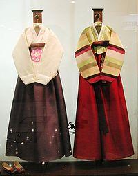 Traditional Hanbok dress