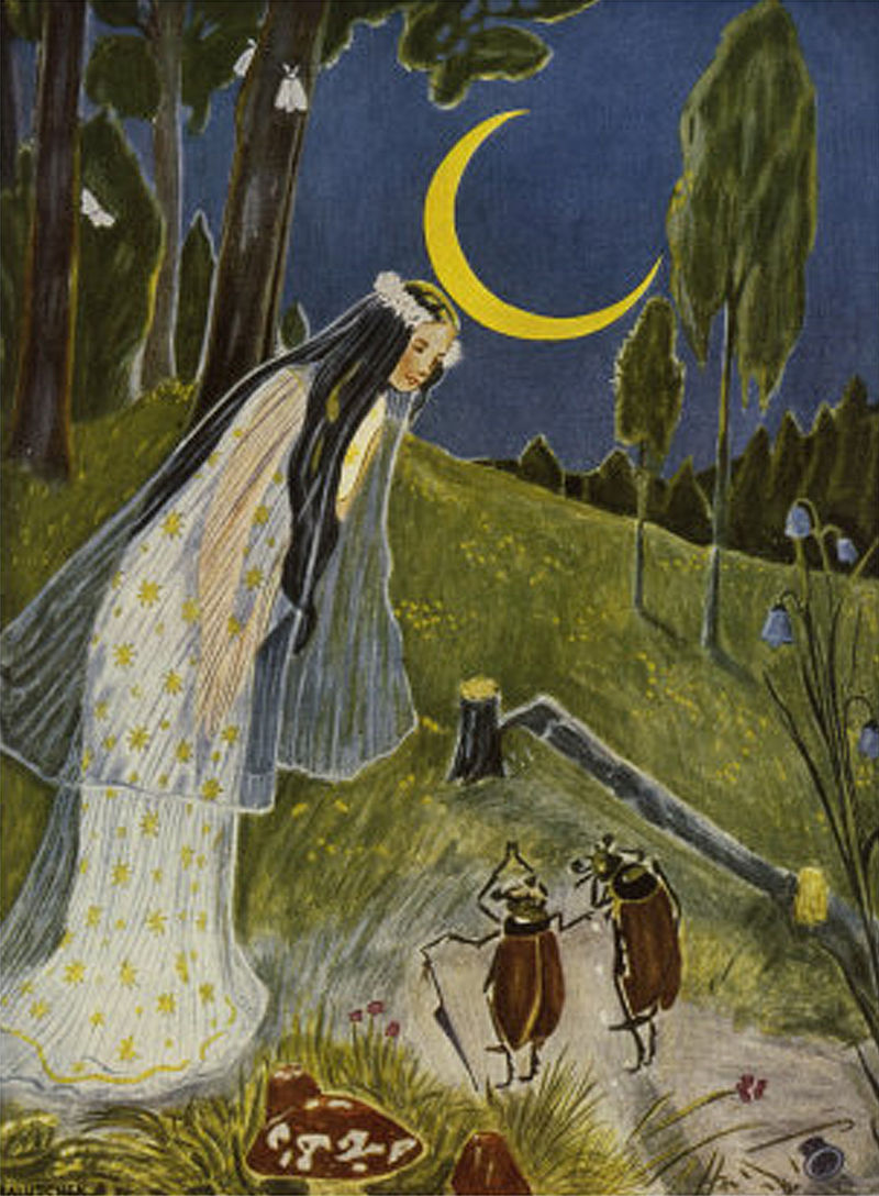 Hans Baluschek, Illustration - Little Peter's trip to the Moon, Night.JPG