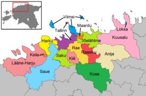 Municipalities of Estonia - Municipalities of Harju County