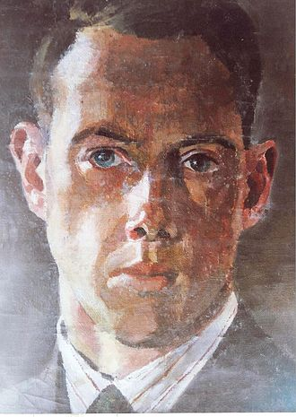 Harry Wingfield - A self-portrait watercolour by Harry Wingfield in his early 30's