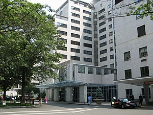 Hartford Hospital - Hartford Hospital's main entrance