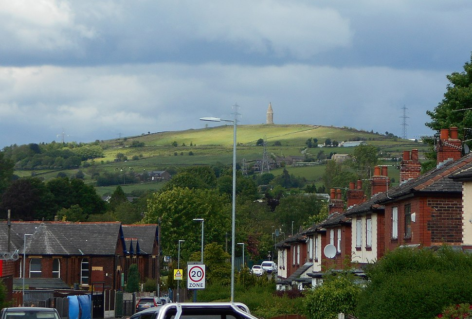 Hartshead Pike from Ashton (1)