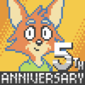 HarvettFox96 - User Avatar - Harvett Fox's Fifth Anniversary (without political flag and logo).png