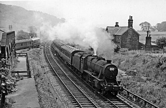 Hassop railway station - The remains of Hassop Station in 1961
