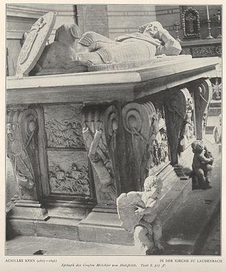 Melchior von Hatzfeldt - His tomb in the Bergkirche Laudenbach (Weikersheim)
