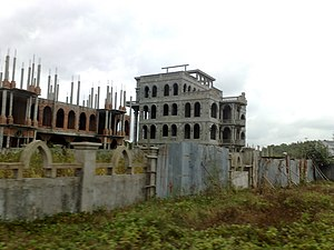 English: Haunted house in Sihanoukville, Cambodia.