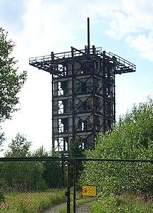 Ruine des Abhörturmes auf dem Großen Rabenberg.