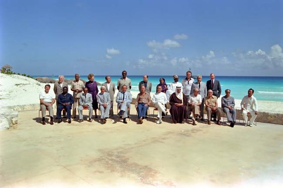 Heads of State at the Cancun North-South Summit in 1981 Heads of State Cancun Summit 1981.jpg