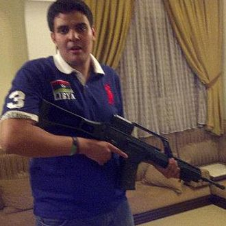 National Liberation Army (Libya) - Misrata militiaman with Heckler & Koch G36 rifle