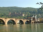 Old town and Heidelberg Castle
