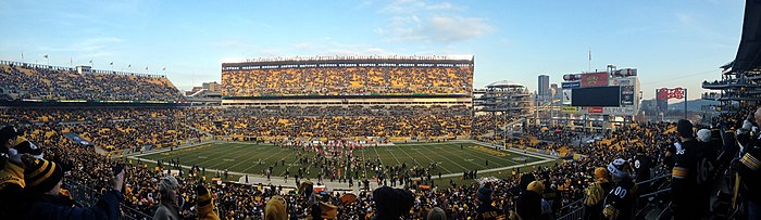 42aa2caf389 Panorama of Heinz Field from club seating during Steelers vs. Chiefs  post-game on December 21