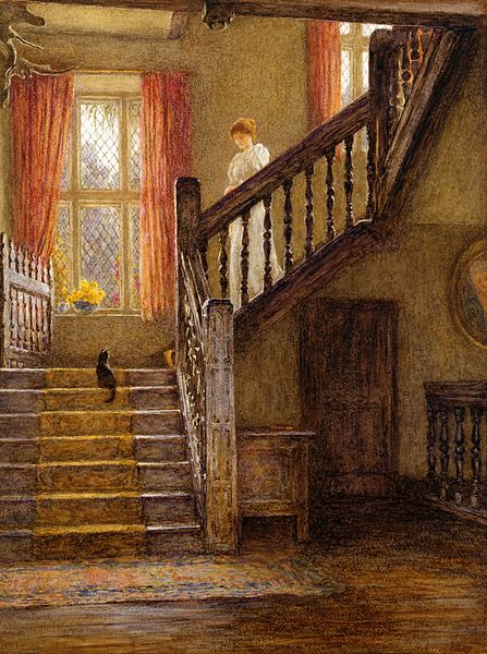 File:Helen Allingham - The Staircase, Whittington Court, Gloucestershire.jpg