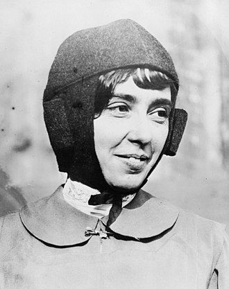 Hélène Dutrieu - Hélène Dutrieu dressed for flying
