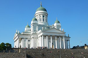 Helsinki Cathedral - View of the cathedral from south west