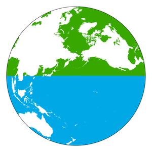 Land and water hemispheres - Image: Hemispheres land water 1