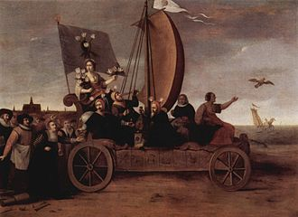 Land sailing - Flora's Wagon of Fools by Hendrik Gerritsz Pot (c. 1637)