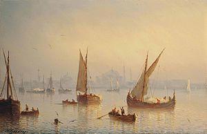 Henriette Gudin - Henriette Gudin, Vessels on the Bosphorus, c. 1850.