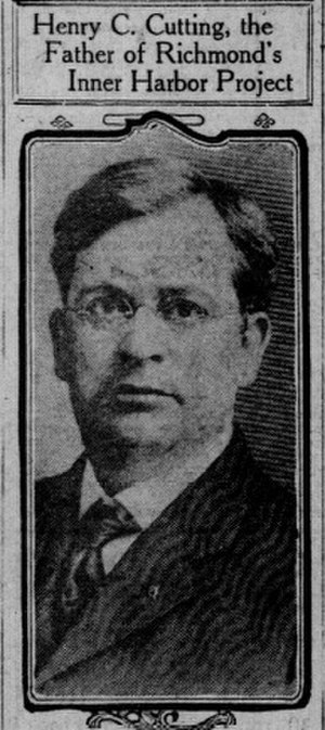 Henry Cutting - Henry Cutting, pictured in a 1912 newspaper profile
