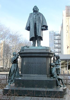 Henry Ward Beecher Monument - The statue of Henry Ward Beecher in Columbus Park in the Civic Center of downtown Brooklyn