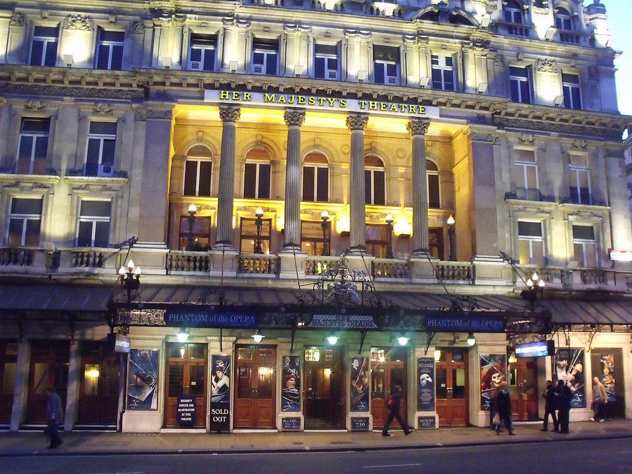 File:Her Majestys Theatre - Haymarket, London - The ...