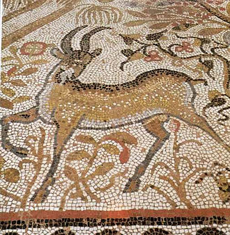 Heraclea Lyncestis - Great Basilica, narthex mosaic - detail