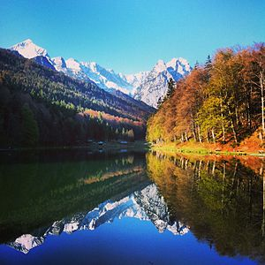 Riessersee - Image: Herbst am Riessersee