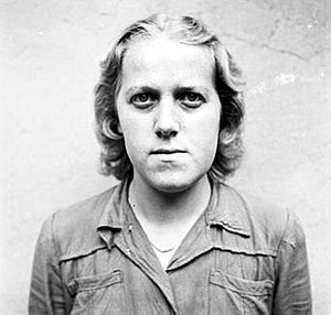 Female guards in Nazi concentration camps - Herta Bothe, in Celle awaiting trial, August 1945