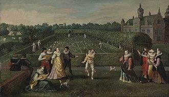 Hieronymus Francken I - Courtiers strolling in a garden