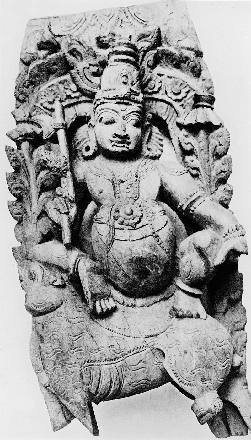 High-relief of Indra, god of the firmament. Wellcome M0009457.jpg