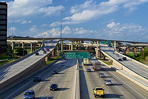High Five Interchange - The High Five in 2007, viewed from the south