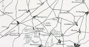 Battle of Bazentin Ridge - Image: High Wood July 1916
