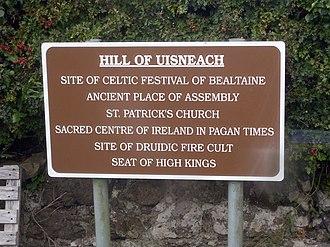 Hill of Uisneach - Information sign
