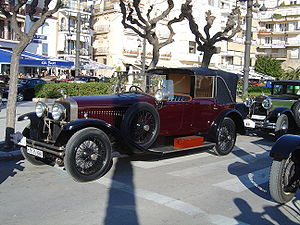 Coupe de Ville - 1925 Hispano-Suiza Type H.6 with collapsible rear compartment roof, also called a Landaulet