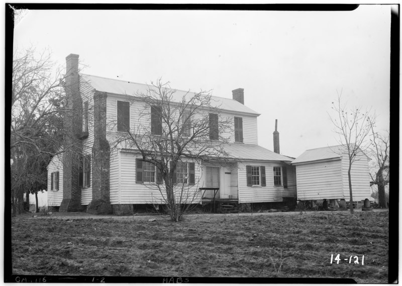 Historic Home Elevation : File historic american buildings survey branan sanders
