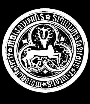 Baia - 14th century seal from Baia, evoking the legend of Saint Hubertus
