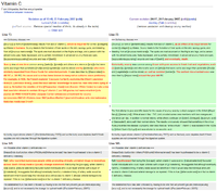 History comparison reports highlight the chang...