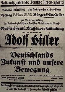 neugrndung und erste erfolge der nsdap - Hitler Lebenslauf