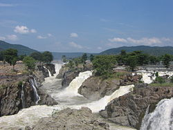 Hogenakkal Waterfalls on the Kaveri river