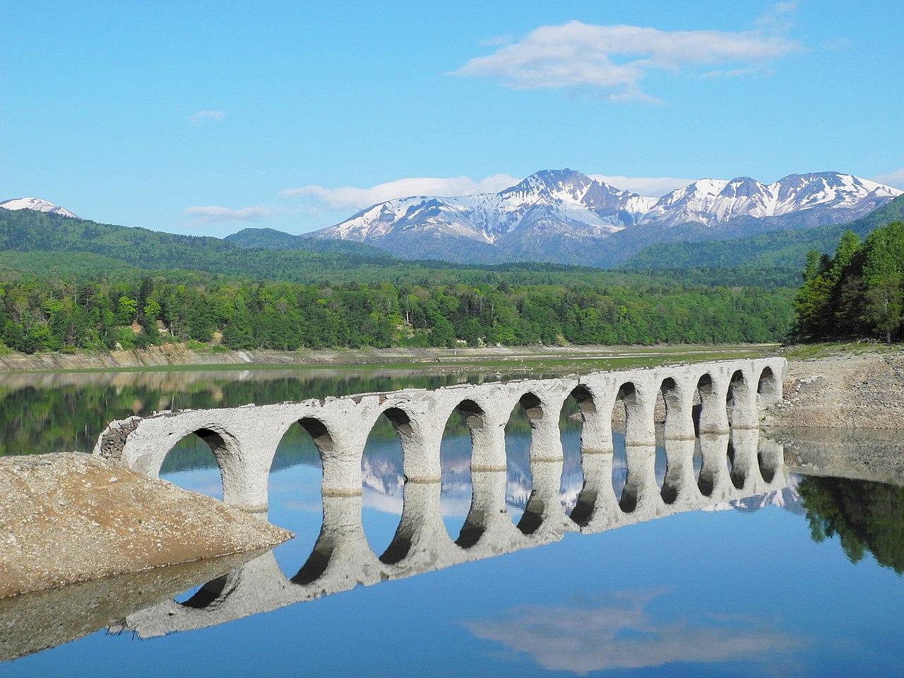 Hokkaido-(Japanese National Railway Shihoro line) Taushubetsu River Bridge -m.jpg