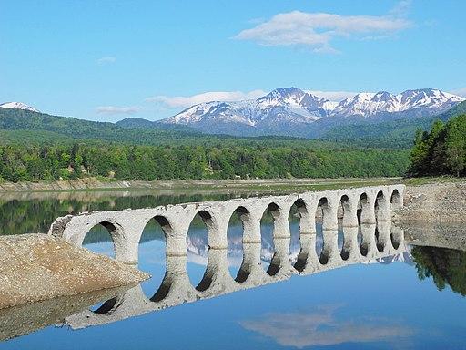 Hokkaido-(Japanese National Railway Shihoro line) Taushubetsu River Bridge -m