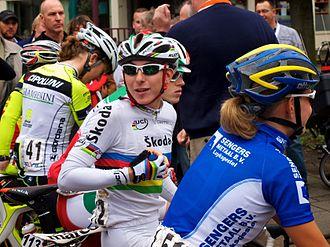Giorgia Bronzini - Bronzini (centre) at the 2011 Holland Ladies Tour