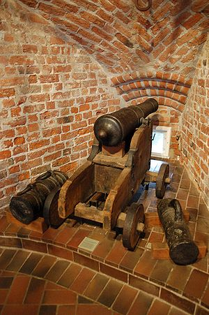 Guns inside Holstentor, Lübeck