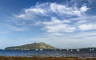 Isle of Arran - Holy Isle as seen from Arran