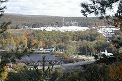 Hooksett Village from the Pinnacle