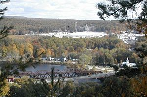 Hooksett, New Hampshire - Hooksett Village from the Pinnacle