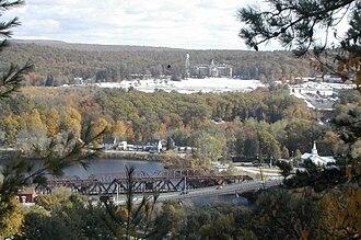 Hooksett, New Hampshire - Hooksett Village from the Pinnacle