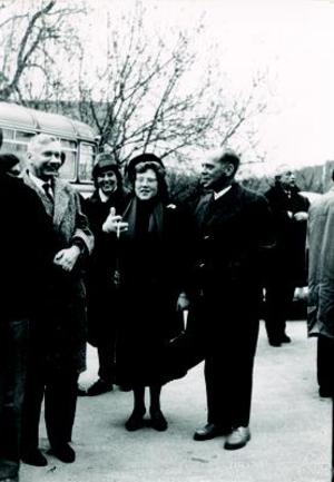 René de Possel - From left to right: Hornich, Wittich and De Possel. Oberwolfach, 1961.