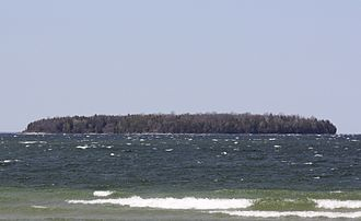 Horseshoe Island (Wisconsin) - Horseshoe Island from Ephraim.