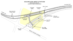 Hounslow West tube station - Indicative layout of Hounslow West station