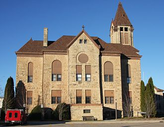 Houston County, Minnesota - Image: Houston County Courthouse Caledonia MN